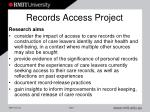 records access project