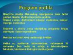 program profila