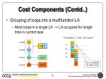 cost components contd