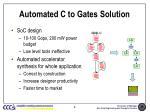 automated c to gates solution