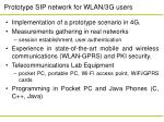 prototype sip network for wlan 3g users