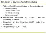simulation of downlink packet scheduling