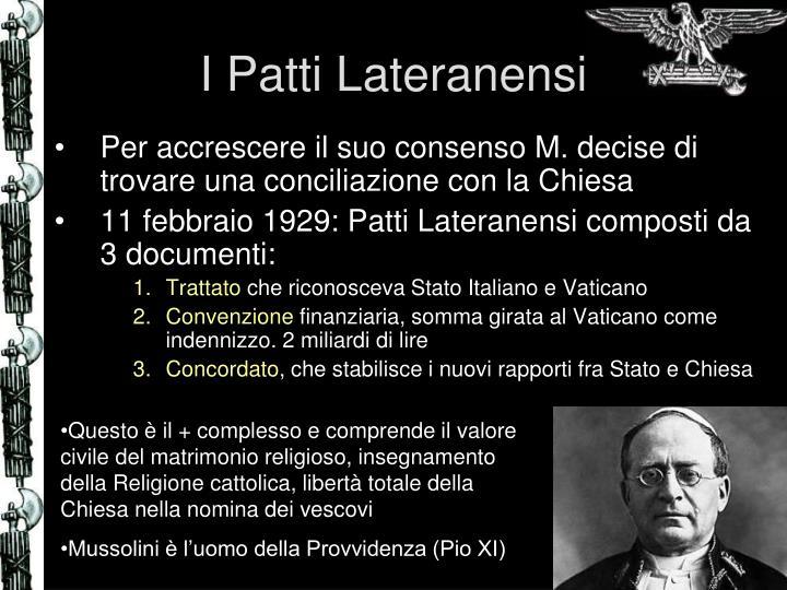I Patti Lateranensi