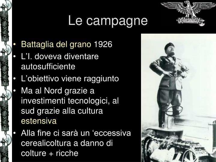 Le campagne
