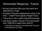 democratic response france
