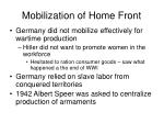 mobilization of home front