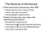 the advance of democracy