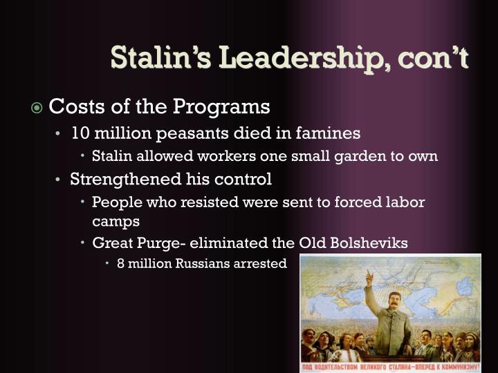 Stalin's Leadership, con't