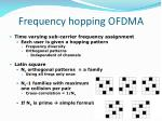 frequency hopping ofdma
