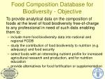 food composition database for biodiversity objective