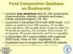 food composition database on biodiversity