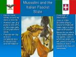 mussolini and the italian fascist state