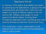 spartacist revolt