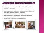 acuerdos intersectoriales