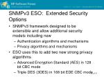 snmpv3 eso extended security options