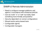 snmpv3 remote administration