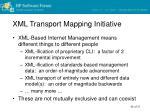 xml transport mapping initiative