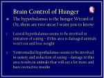 brain control of hunger