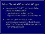 more chemical control of weight