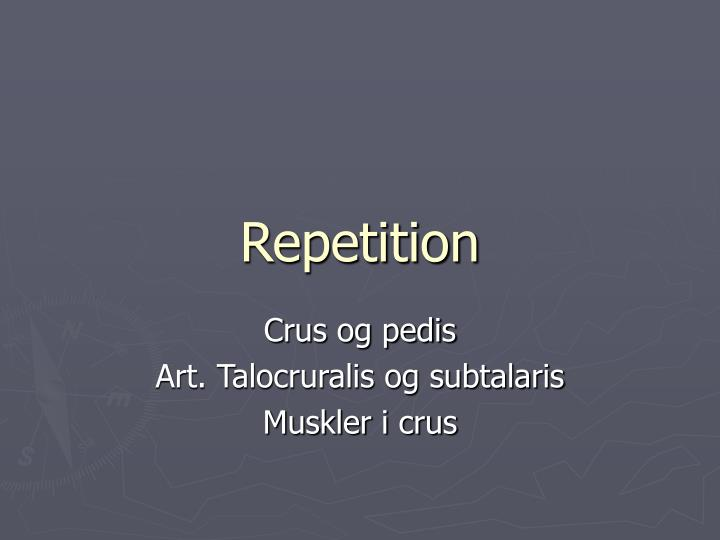 repetition n.