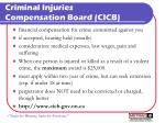 criminal injuries compensation board cicb