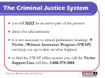 the criminal justice system8