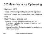 3 2 mean variance optimering