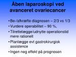 ben laparoskopi ved avanceret ovariecancer