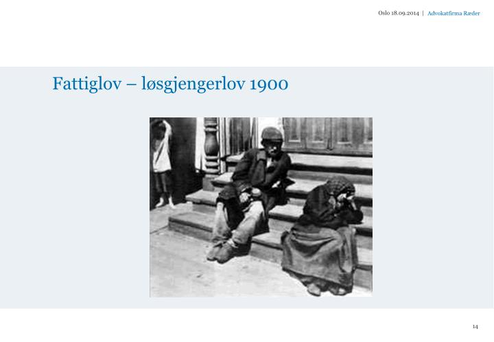 Fattiglov – løsgjengerlov 1900