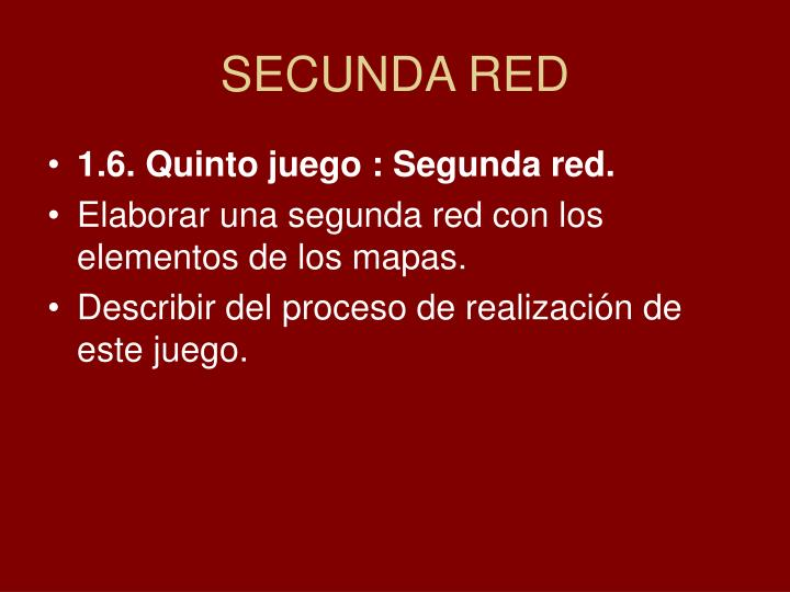 SECUNDA RED