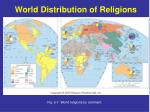 world distribution of religions
