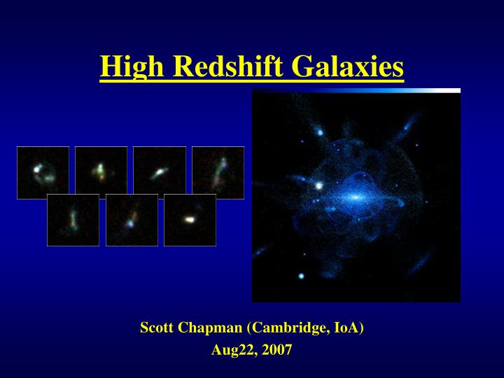 high redshift galaxies n.