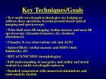 key techniques goals