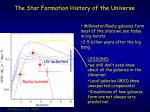the star formation history of the universe