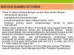 inovasi bambu di china