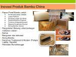 inovasi produk bambu china