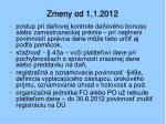 zmeny od 1 1 20122