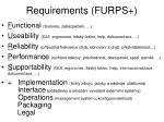 requirements furps