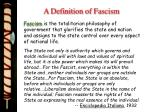 a definition of fascism