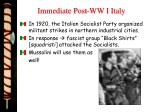 immediate post ww i italy1
