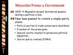 mussolini forms a government