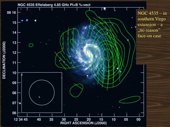 """NGC 4535 – in southern Virgo extension – a """"no reason"""" face-on case"""