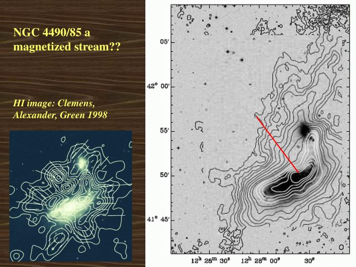 NGC 4490/85 a magnetized stream??