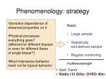 phenomenology strategy