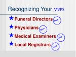 recognizing your mvps