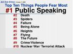 top ten things people fear most