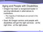 aging and people with disabilities