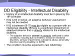dd eligibility intellectual disability
