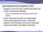 developmental disability dd