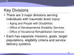 key divisions